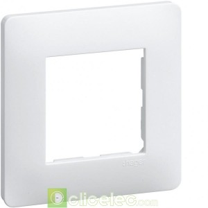 Essensya Lot de 50 plaques 1 poste Blanc WE40150 Hager Essensya Hager