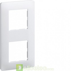 Appareillage mural Essensya Plaque 2 postes entr.71 Blanc WE402 Hager
