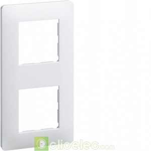 Essensya Plaque 2 postes entr.71 Blanc WE402 Hager Essensya Hager