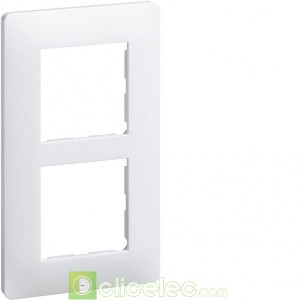 essensya Plaque 2 postes entr.57 Blanc WE406 Hager Essensya Hager