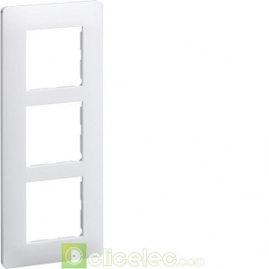 essensya Plaque 3 postes entr.57 Blanc WE407 Hager Essensya Hager