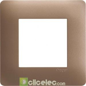 essensya Plaque 1 poste Bronze WE461 Hager Essensya Hager