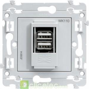 kallysta chargeur USB WK110 Hager Kallysta Hager