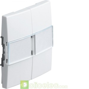 Kallysta 2touche porte-étiquette Blanc N WK787B Hager Kallysta Hager
