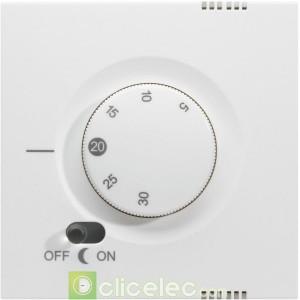 Kallysta Enjo. thermostat Blanc Névé WK792B Hager Kallysta Hager