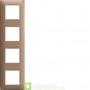 essensya Plaque 4 postes entr. 71 Bronze WE464 Hager Essensya Hager