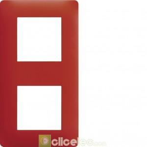 essensya Plaque 2 p. entr 71 Rouge émail WE472 Hager Essensya Hager