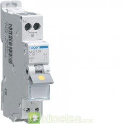 Disjoncteur 1P+N 3kA C-2A SanVis 1M Hager