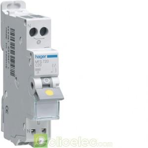 Disjoncteur 1P+N 3kA C-1A SanVis 1M MFS701 Hager Disjoncteurs PH+N