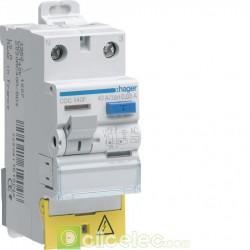 Interrupteur différentiel 1P+N 63A 30mA AC BD Hager