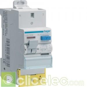 Inter. diff. 2P 25A 30mA AC SanVis - CDS722F Hager Interrupteur Différentiel