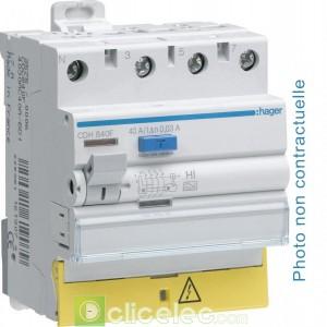 Inter dif 3P+N 63A 100mA AC BD - CEC863F Hager Interrupteur Différentiel