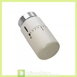 Accessoire de chauffage Tête thermostatique design blanche. Acova