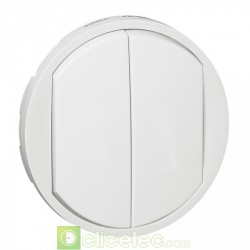 Appareillage mural Céliane ENJO.BLANC COUPURE DOUBLE 068002 Legrand