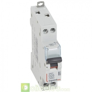 DNX3 1P+NG D25 4500A 1M 406804 Legrand Disjoncteurs PH+N