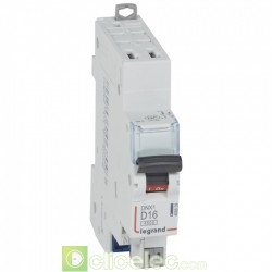 Disjoncteur DNX3 1P+NG D16 4500A AUTO 1M 406809 Legrand