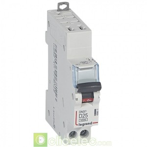 DNX3 1P+NG D25 4500A AUTO 1M 406811 Legrand Disjoncteurs PH+N