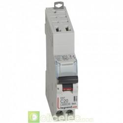 Disjoncteur DX3 1P+NG C20 4500A/6KA AUTO 406884 Legrand