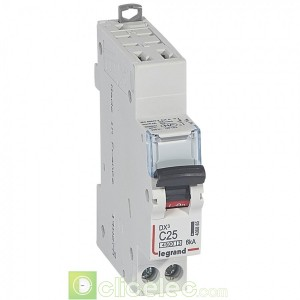 DX3 1P+NG C25 4500A/6KA AUTO 406885 Legrand Disjoncteurs PH+N