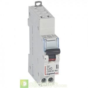 DX3 1P+NG C40 4500A/6KA AUTO 406887 Legrand Disjoncteurs PH+N
