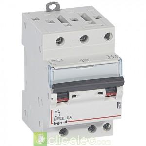 DX3 3P C6 4500A/6KA 3M 406888 Legrand Disjoncteurs PH+N
