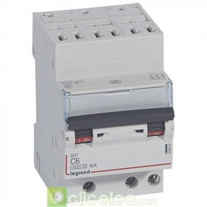 DX3 3P C6 4500A/6KA AUTO 406897 Legrand Disjoncteurs PH+N