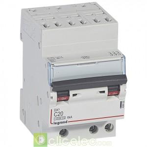 DX3 3P C20 4500A/6KA AUTO 406902 Legrand Disjoncteurs PH+N
