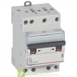 DX3 4P C6 4500A/6KA 3M 406906 Legrand Disjoncteurs PH+N