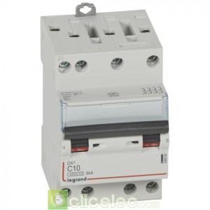 DX3 4P C10 4500A/6KA 3M 406908 Legrand Disjoncteurs PH+N