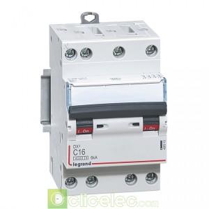 DX3 4P C16 4500A/6KA 3M 406910 Legrand Disjoncteurs PH+N