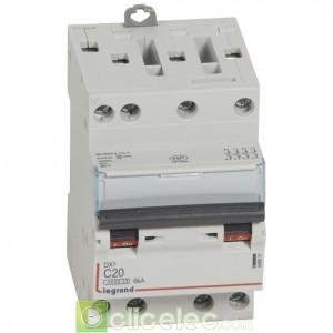 DX3 4P C20 4500A/6KA 3M 406911 Legrand Disjoncteurs PH+N