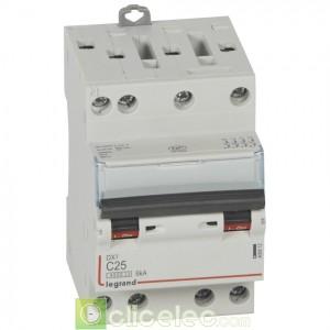 DX3 4P C25 4500A/6KA 3M 406912 Legrand Disjoncteurs PH+N