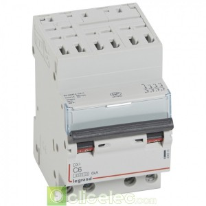 DX3 4P C6 4500A/6KA AUTO 406915 Legrand Disjoncteurs PH+N