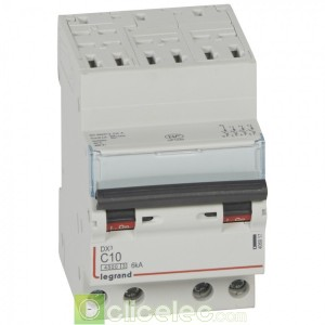 DX3 4P C10 4500A/6KA AUTO 406917 Legrand Disjoncteurs PH+N