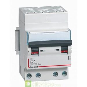 DX3 4P C20 4500A/6KA AUTO 406920 Legrand Disjoncteurs PH+N