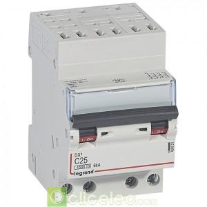 DX3 4P C25 4500A/6KA AUTO 406921 Legrand Disjoncteurs PH+N
