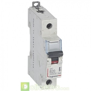 DX3 1P B20 6000A/10KA 407418 Legrand Disjoncteurs PH+N