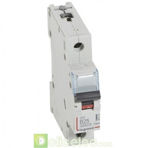 DX3 1P B25 6000A/10KA 407419 Legrand Disjoncteurs PH+N