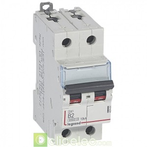 DX3 2P B2 6000A/10KA 407491 Legrand Disjoncteurs PH+N