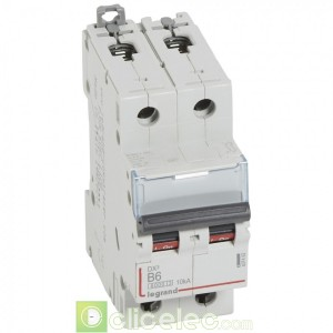 DX3 2P B6 6000A/10KA 407492 Legrand Disjoncteurs PH+N