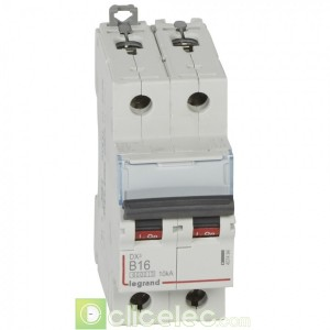 DX3 2P B16 6000A/10KA 407494 Legrand Disjoncteurs PH+N