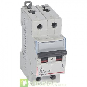 DX3 2P B20 6000A/10KA 407495 Legrand Disjoncteurs PH+N