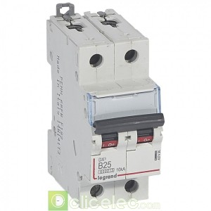 DX3 2P B25 6000A/10KA 407496 Legrand Disjoncteurs PH+N