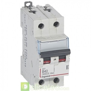 DX3 2P B40 6000A/10KA 407498 Legrand Disjoncteurs PH+N