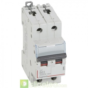 DX3 2P B63 6000A/10KA 407500 Legrand Disjoncteurs PH+N