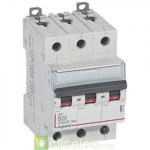 DX3 3P B20 6000A/10KA 407533 Legrand Disjoncteurs PH+N