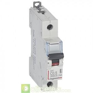 DX3 1P C0.5 6000A/10KA 407645 Legrand Disjoncteurs PH+N