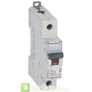 DX3 1P C25 6000A/10KA 407656 Legrand Disjoncteurs PH+N
