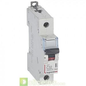 DX3 1P C32 6000A/10KA 407657 Legrand Disjoncteurs PH+N