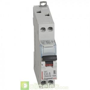 DX3 1P+NG C0,5 6000A/10KA 407691 Legrand Disjoncteurs PH+N